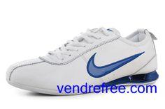 san francisco a3e61 66168 Vendre pas cher Homme Nike Shox R3 Chaussures (couleur vamp interieur-blanc  logo-bleu sole-bleu,blanc) en ligne en France.