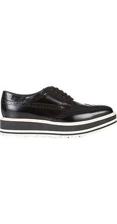Prada Wingtip Brogue Platform Sneakers - Sneakers - Barneys.com
