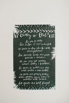 Signage from a Jungle 1st Birthday Party on Kara's Party Ideas | KarasPartyIdeas.com (25)
