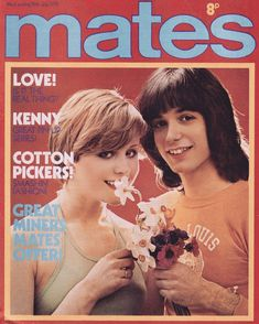 Alan Merrill (Arrows) and model Ulrika on the cover of Mates magazine UK, Vodka Collins, Arrows, Pinup, Magazines, 1960s, Nostalgia, Teen, Singer, Comics