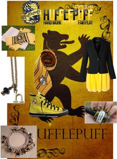"""""""I'm in hufflepuff:)"""" by laboobear on Polyvore"""