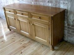 Reclaimed Old Oak Server In Golden Brown Finish traditional buffets and sideboards