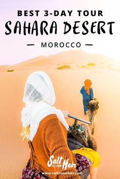 Sahara Desert Tour, Morocco (3 days) #sahara #desert #tour #morocco #3days #merzouga #ergchebbi #erg #chebbi #saltinourhair #girl #camel #ride #africa #travel #traveling #backpack #backpacking #blog #saltinourhair