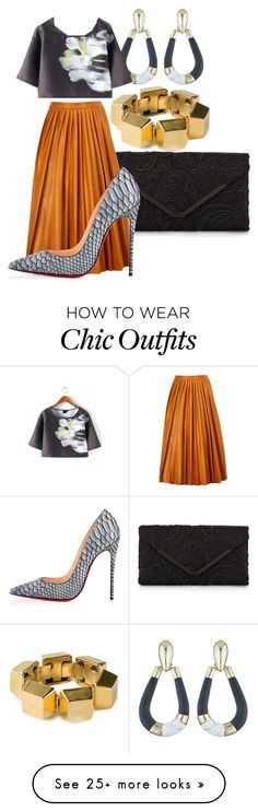 """Lighter To My Cigarette"" by chelsofly on Polyvore featuring Yves Saint Laurent, Alexis Bittar, WithChic, Accessorize, By Malene Birger and Christian Louboutin"