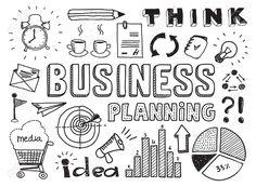 Hand Drawn Vector Illustration Set Of Business Planning Doodles ...