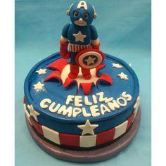 Capitán américa #TortasPersonalizadasPalmira #TortasPalmira Tus fiestas personalizadas tematicas con @Dulcycandy #DulcesMomentosDulcycandy