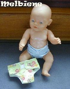 Nachdem ich Unmengen an Geld für diese Baby Born Windeln ausgegeben hatte, da nach kurzer Zeit die Verschlüsse nicht mehr hielten, habe ich diese tolle Stoffwindel entworfen. Sie ist aus Stoffresten entstanden und wirklich ganz flott genäht ...
