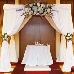 Trendy Wedding Backdrop Diy Pipe And Drape Wedding Arch Flowers, Diy Wedding Backdrop, Prom Flowers, Diy Backdrop, Wedding Ceremony, Wedding Draping, Diy Pipe And Drape, Pipe And Drape Backdrop, 50th Wedding Anniversary Decorations