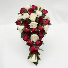 Create Your Own 2 Color 18 pcs Wedding Bridal Bouquet Flower Set, $225.00