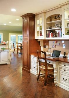Homey Transitional Home Office by Rose Marie Carr