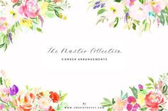 Master Collection - Watercolour Art by CreateTheCut on @creativemarket