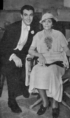 Robert Taylor with his mother, Ruth Brugh