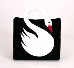 Swanbag Women Handbag with Swan Figure in Black by OriginalClub