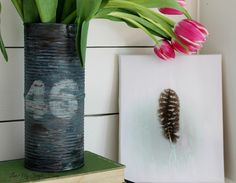 Feather Print On Canvas