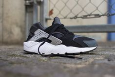 "Nike Air Huarache GS ""Grey, Black & White"" - EU Kicks: Sneaker Magazine"