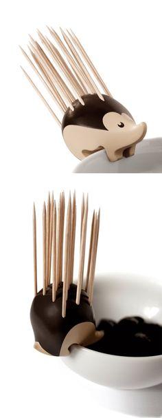 Charming Hedgehog-Shaped Toothpick Holder by Erwan Péron