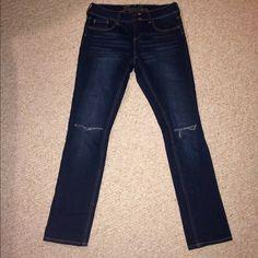 Selling this Dark Wash Ripped Knee Jeans in my Poshmark closet! My username is: emmolik. #shopmycloset #poshmark #fashion #shopping #style #forsale #dELiA's #Denim