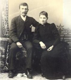 "My great great grandparents William Harrison (""Harry"") and Nettie Sarah Wood... Handsome couple. Wonder if they are related to our Wood family?"