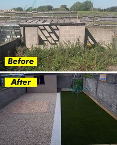 You can keep your garden in perfect condition all year round, regardless of the season! You'd be surprised how much more vibrant your garden looks after replacing worn and tired grass. Here is one of our before and after pictures. John was looking for a quick and simple solution to transform his tired garden. He cames across artificial grass and with only a few square meters of artificial grass he transformed his garden. Before And After Pictures, Tired, Grass, Sidewalk, Vibrant, Canning, Simple, Garden, Garten