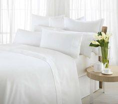cotton sateen stripe fabric for hotel bedding set King Bedding Sets, Duvet Sets, Sweet Dreams Beds, Hotel Bed, Bed In A Bag, Thing 1, Bed Linen Sets, Bed Sheet Sets, White Bedding