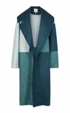 Multi Helston Coat by Roksanda Ilincic - Moda Operandi Coats For Women, Clothes For Women, Vest Coat, Blue Coats, Cool Jackets, Roksanda, Blue Wool, Wool Coat, Outerwear Jackets