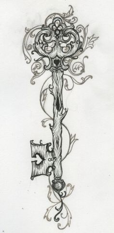 Enchanting key design. Best thing I've ever seen<3 Want this on my arm:)