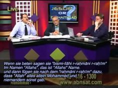 Walid Shoebat   Jesus oder Mohammed  JESUS or MOHAMMED - Walid speaking on the Aramaic Broadcasting Network (ABN) at  ABNsat.com, in English with foreign subtitles (1.22.10 hour)