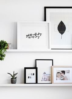 Love This Gallery Wall Decorate With Personal And Fine Art Photos Walls