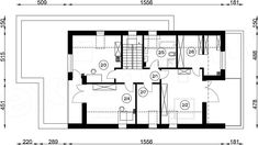 Rzut poddasza projektu FX-24 Model House Plan, House Plans, Modern Barn House, Good House, Scandinavian Modern, Villa, Floor Plans, Exterior, House Design
