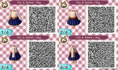 Animal Crossing Designs, celadon-crossing:   Feeling chic? This outfit...