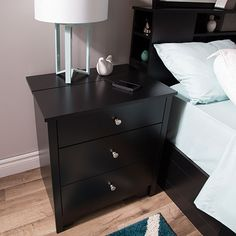 drawer nightstand by i love living navy empire 2 drawer nightstand ...