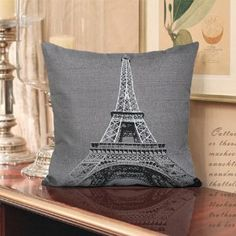 Eiffel Tower Decorative Pillow