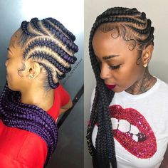 Lemmy's in Purple or Black ebraids feedinbraids feederbraids ghanabraids mediumlemonadebraids lemonadebraids braidsgang… Blackhairstyles - braids Black Hairstyles Pictures, Braided Hairstyles For Black Women, African Braids Hairstyles, Teen Hairstyles, Hair Pictures, Fashion Hairstyles, Black Girl Braids, Braids For Black Hair, Braids For Black Women Cornrows