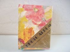 Floral Photo Album, Vintage Sealed Photograph Album, Floral Themed Photo Storage for 120 4x6 Photos, Abstract Flowers