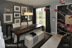 Styled & Staged to Sell - FL Townhome - Sold after 5 days on market - short sale October 2011 - Closed January 2012 - Focal Point Styling Interior Styling, Interior Decorating, Interior Design, Home Selling Tips, Grey Walls, Autumn Home, House Tours, Home Remodeling, Building A House