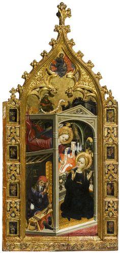 1390-1410 | Andrés Marzal de Sas | Tríptico (painel central) | Museo de Zaragoza