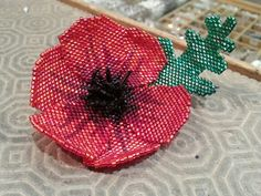 My first attempt at Pam Kirks Poppy!