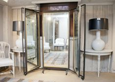 When we found this tri-fold salon style mirror, we imagined it had been in the atelier of someone like Hubert Givenchy or Christian Dior - it is after all from France, and probably from the 1940's. That said, it would be smashing in a fabulous dressing room or as a statement piece in an entry foyer....what better way to touch up your lipstick. More information on this piece…