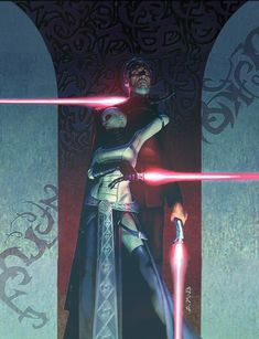 Star Wars Insider 88 - Count Dooku & Asajj Ventress by Aaron McBride Star Wars Film, Star Wars Art, Star Wars Pictures, Star Wars Images, Jedi Sith, Sith Lord, Starwars, Asajj Ventress, Count Dooku