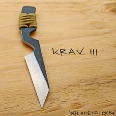The Bladetricks Krav III is a compact everyday carry self defense knife. #knife #edc #paracord