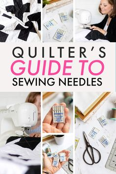 How to choose the right sewing needle for quilting! What's the deal with sewing machine needles for quilting? Universal Needles, Quilting Needles, Microtex Sharp Needles, Topstitching Needles.... there so many different types. How do you know which one the right type for your quilting project? Find out which one you need.