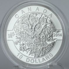 Canada 2014 Down by the Old Maple Tree, ½ Oz Pure Silver $10 Matt Proof Coin