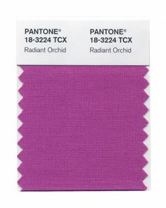 Radiant Orchid. - Pantone's Color of the Year  2014