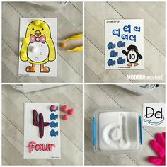 PENGUINS Fine Motor Busy Bins for Winter - Modern Preschool