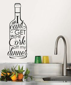 Take a look at this Wine Bottle Decal today!