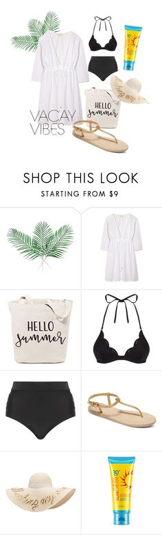 """time to go to the beach🌞"" by jesselyn-lourence on Polyvore featuring Tory Burch, STELLA McCARTNEY, Cactus, Roxy, Eugenia Kim, beach, ootd, beachstyle, BeachPlease and vacayoutfit"