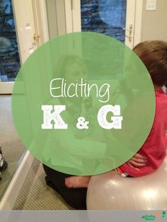 Tips for eliciting /k/ and /g/ in speech therapy and activities for generalization.