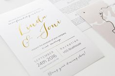 Custom made wedding invitations by www.makeadesign.fi / Hääkutsut