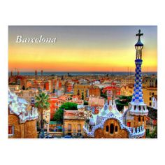 New City Scenery Diy Diamond Painting Square Drill Diamond Mosaic Cross Stitch Diamond Embroidery Sunrise City Picture Decora Sunrise City, Parc Guell, Mosaic Crosses, Country Lifestyle, Barcelona Travel, Personalized Wine, Free Travel, Spain Travel, Amazing Destinations