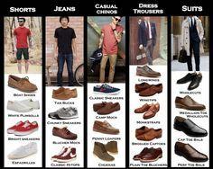 calzado para hombres pantalones